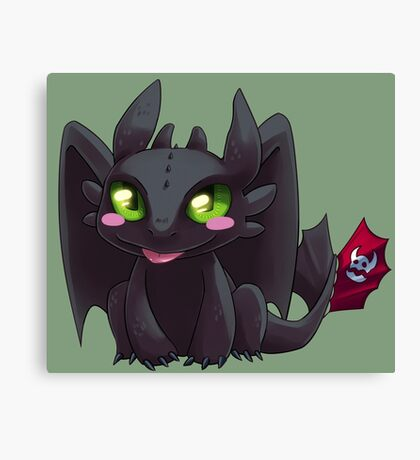 Toothless Canvas Print