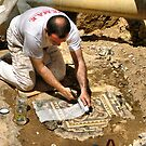 "archaeological diggings in street by Antonello Incagnone ""incant"""