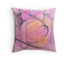 Pink illusions Throw Pillow