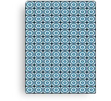 Blue Circles Pattern Canvas Print