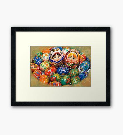 Ukrainian Easter Eggs Framed Print