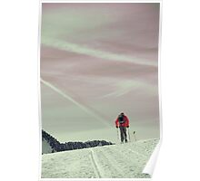 Lonely hiker Poster