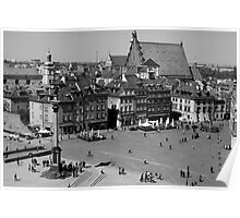 Old Town Market Square Warsaw, Poland Poster