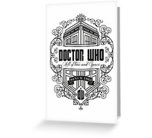 Doctor Who All the Time and Space Vintage Greeting Card