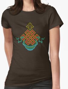 Buddhist Endless Knot Womens Fitted T-Shirt