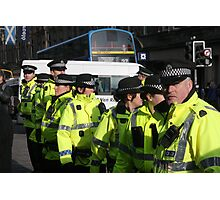 cops at anti-fascist march Photographic Print