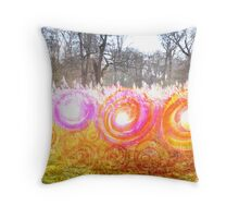 Spiral Grass and Trees Throw Pillow