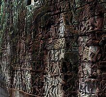 Reliefs at Prasat Bayon - Angkor, Cambodia. by Tiffany Lenoir