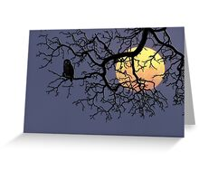 The Owl And The Moon Greeting Card