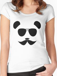 Panda in disguise 2 Women's Fitted Scoop T-Shirt