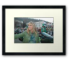 Bo Derek at the St Pat's Parade 2010 Framed Print