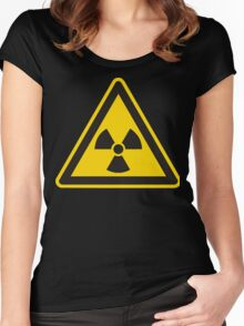 Radioactive Sign Women's Fitted Scoop T-Shirt