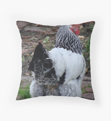 Fancy Pants Chicken Throw Pillow