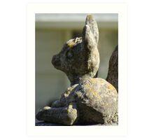 Memorial Stone Sculpture Art Print
