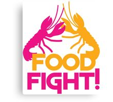 Food Fight with lobsters Canvas Print