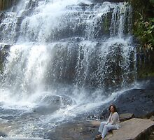 WATERFALL IN CAMERRON by NASEEM SULEMAN