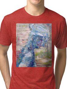 SUMMER BLUES GIRL Tri-blend T-Shirt