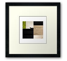 birds in blocks Framed Print
