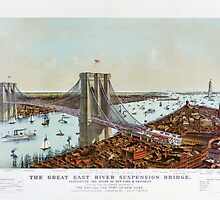 Great East River suspension bridge 1892 by Carsten Reisinger