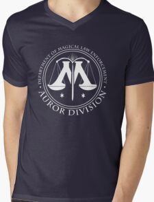 AUROR DIVISION Seal - white - (Harry Potter) Mens V-Neck T-Shirt