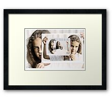 Beauty in the Hands of the Beheld Framed Print