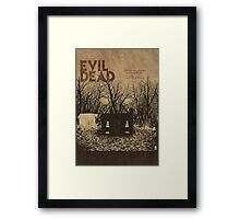 EVIL DEAD- ALTERNATIVE POSTER Framed Print