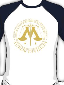 AUROR DIVISION Seal - gold - (Harry Potter) T-Shirt