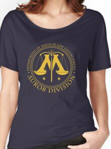 AUROR DIVISION Seal - gold - (Harry Potter) Women's Relaxed Fit T-Shirt