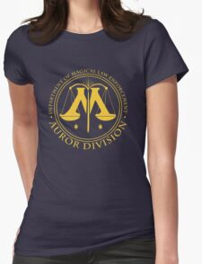 AUROR DIVISION Seal - gold - (Harry Potter) Womens Fitted T-Shirt