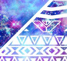 Girly Purple Pink Nebula Space White Tribal Aztec Sticker