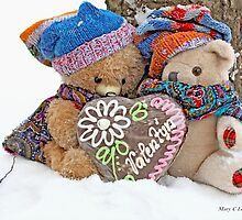 Vintage Teddy Bear and Erasmus share a gingerbread Valentine by pogomcl