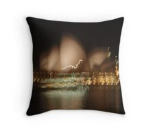 Operatic light movement Throw Pillow