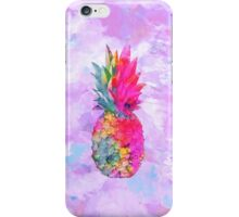 Bright Neon Hawaiian Pineapple Tropical iPhone Case/Skin