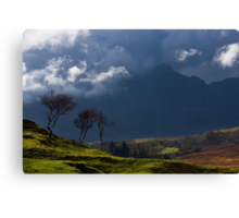 Storm brewing on the heights of Blaven, Isle of Skye. Scotland. Canvas Print
