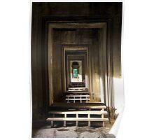 Doors to doors - Angkor Wat, Cambodia. Poster