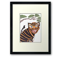 The Tiger and the Magpie Framed Print
