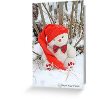 Fatso Bear sits alone in the snow Greeting Card