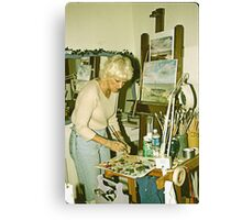 Portrait of An Artist in Her Studio. Canvas Print