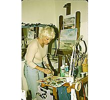 Portrait of An Artist in Her Studio. Photographic Print