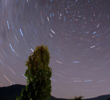 RoofTop Startrail by WendyJC