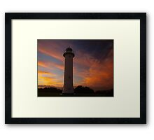 Red Sky, Sailors delight.  Yamba NSW Framed Print