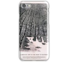 Baltimore Maryland Vintage Map 1911 Restored iPhone Case/Skin