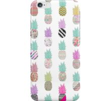 Girly Exotic Pineapple Aztec Floral Pattern iPhone Case/Skin