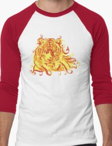 Tiger Face Men's Baseball ¾ T-Shirt