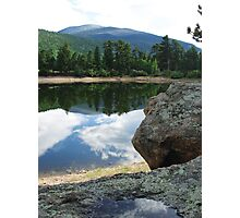 Hikers view Photographic Print