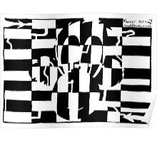 Monkey Maze Illusion Poster