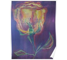Abstract Yellow Rose Poster