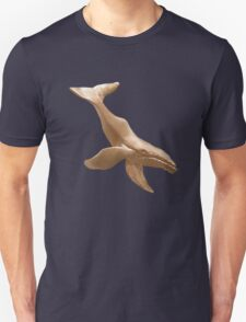 Gold Diving Humpback Whale T-Shirt