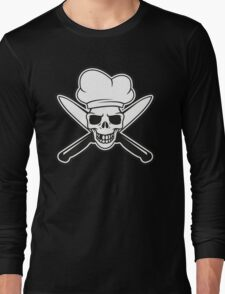 Chef skull Long Sleeve T-Shirt