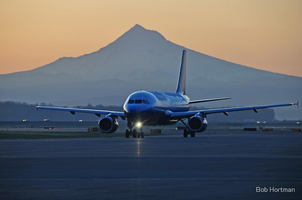 Portland Oregon sunrise departure by Bob Hortman